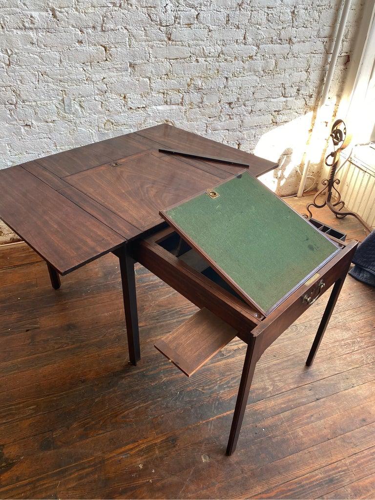 18th Century Georgian Mahogany Metamorphic Architect's Table For Sale 6