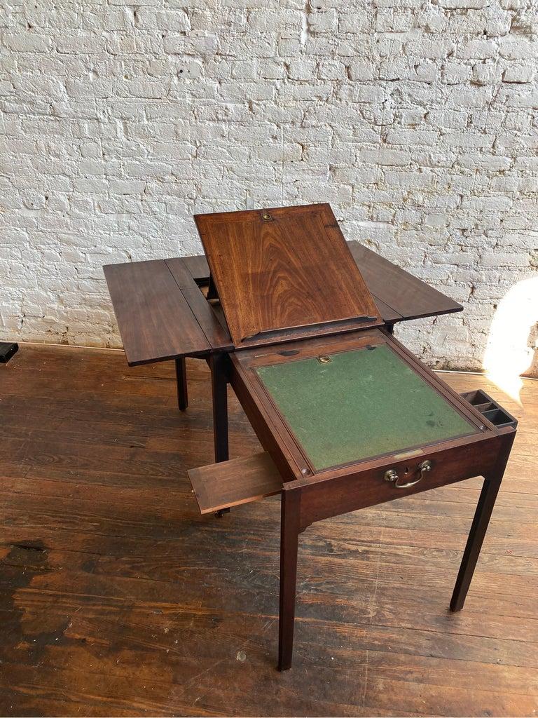 18th Century Georgian Mahogany Metamorphic Architect's Table For Sale 7
