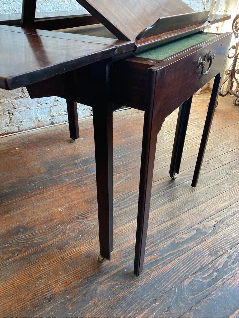 18th Century Georgian Mahogany Metamorphic Architect's Table For Sale 8