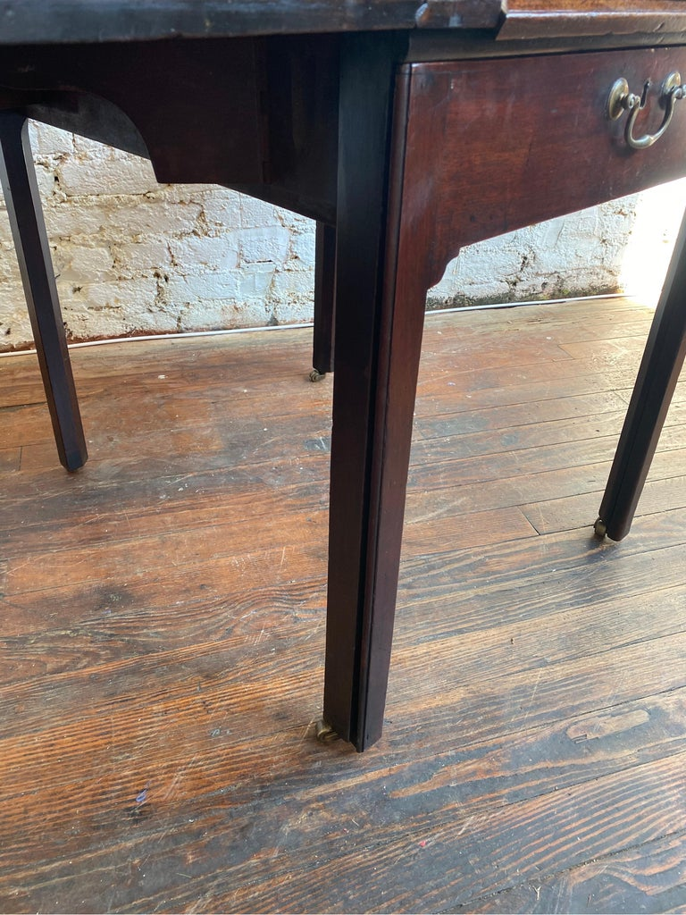 18th Century Georgian Mahogany Metamorphic Architect's Table For Sale 9