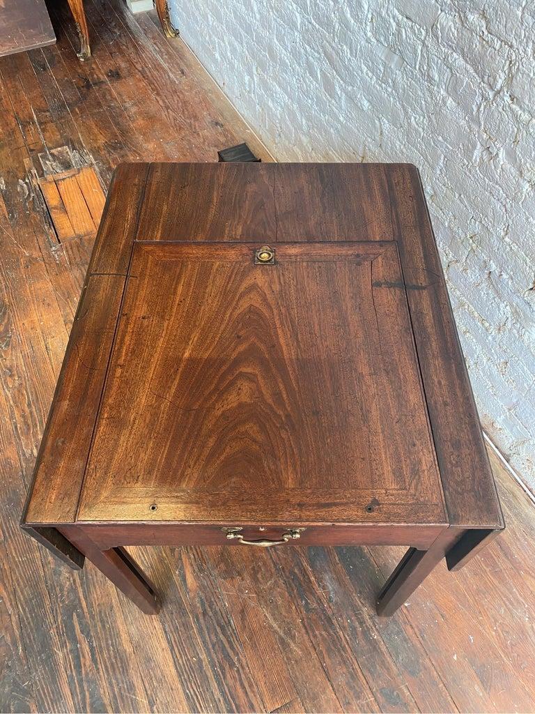 18th Century Georgian Mahogany Metamorphic Architect's Table For Sale 10