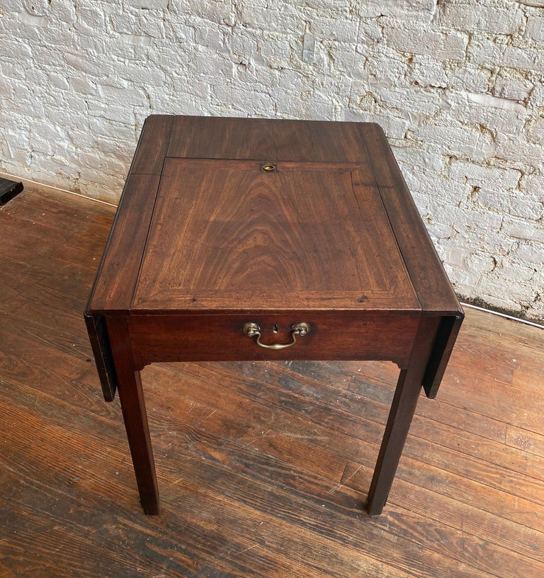 18th Century Georgian Mahogany Metamorphic Architect's Table For Sale 11