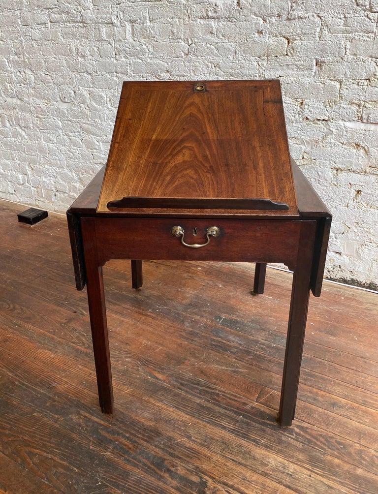 18th Century Georgian Mahogany Metamorphic Architect's Table For Sale 12