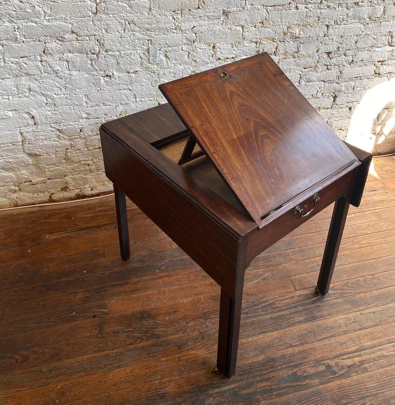English 18th Century Georgian Mahogany Metamorphic Architect's Table For Sale