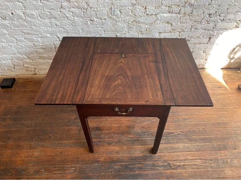 18th Century Georgian Mahogany Metamorphic Architect's Table In Good Condition For Sale In Charleston, SC