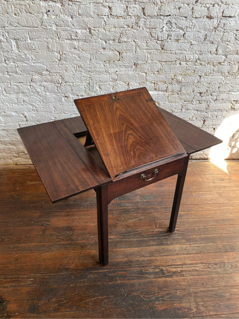 18th Century Georgian Mahogany Metamorphic Architect's Table For Sale 1