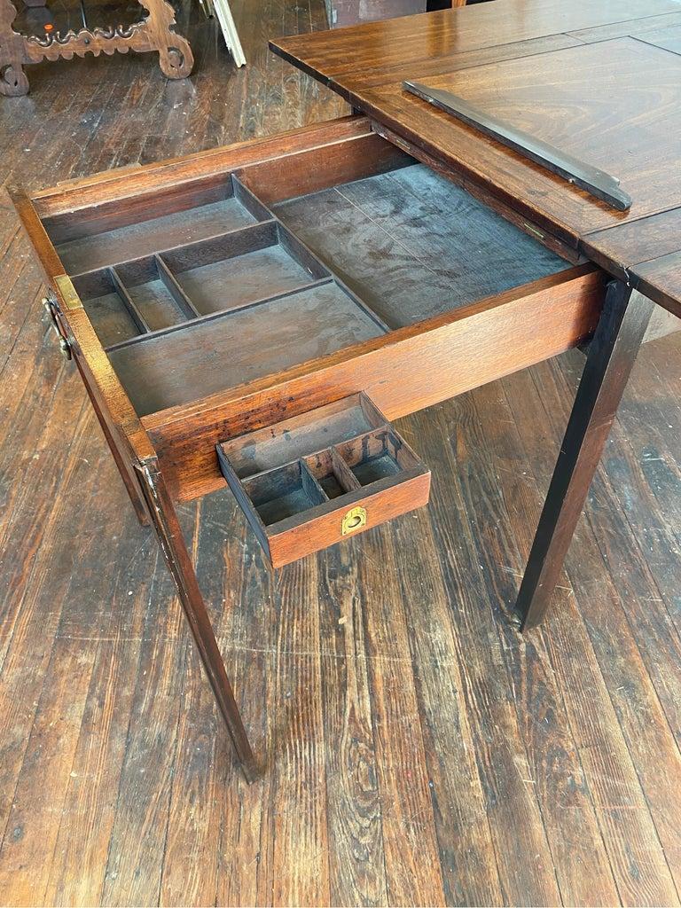 18th Century Georgian Mahogany Metamorphic Architect's Table For Sale 3