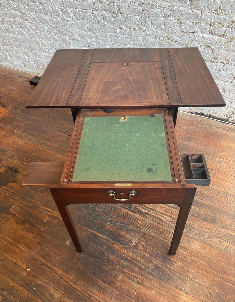 18th Century Georgian Mahogany Metamorphic Architect's Table For Sale 4