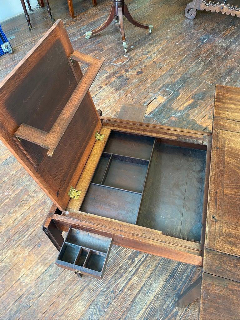 18th Century Georgian Mahogany Metamorphic Architect's Table For Sale 5