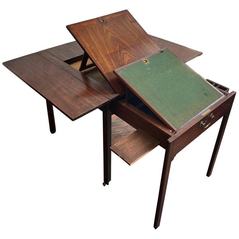 18th Century Georgian Mahogany Metamorphic Architect's Table For Sale