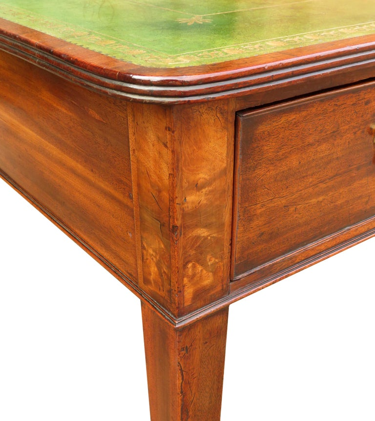 18th Century Georgian Mahogany Partners Antique Writing Table For Sale 6