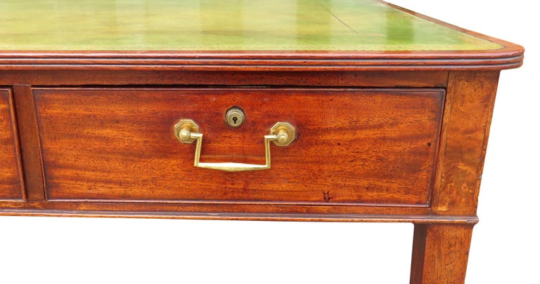 English 18th Century Georgian Mahogany Partners Antique Writing Table For Sale