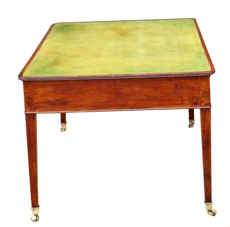 18th Century Georgian Mahogany Partners Antique Writing Table In Good Condition For Sale In Bedfordshire, GB