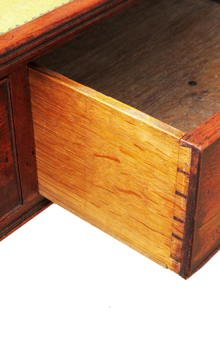 18th Century Georgian Mahogany Partners Antique Writing Table For Sale 1