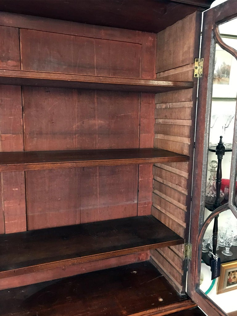 18th Century Georgian Mahogany Secrétaire Bookcase and Cupboard For Sale 3