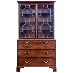 18th Century Georgian Mahogany Secretaire Bookcase