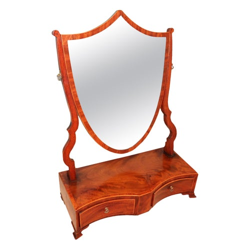 18th Century Georgian Mahogany Sheraton Dressing Table Mirror