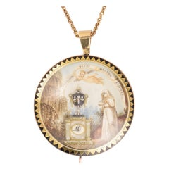 18th Century Georgian Memorial Pendant LC, 1794