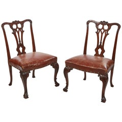18th Century Georgian Pair of Occasional Chairs
