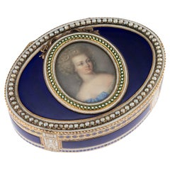 18th Century German 18-Karat Gold and Enamel Snuff Box, Hanau, circa 1790