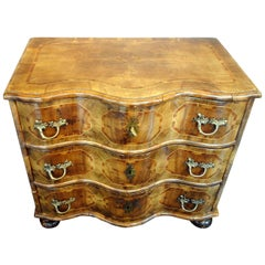 18th Century German Baroque Chest of Drawers, Walnut