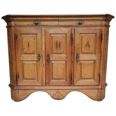 18th Century German Baroque Cupboard or Sideboard Made of Oak