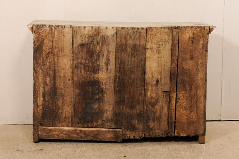 18th Century German Carved and Painted Wood Sideboard Cabinet For Sale 6