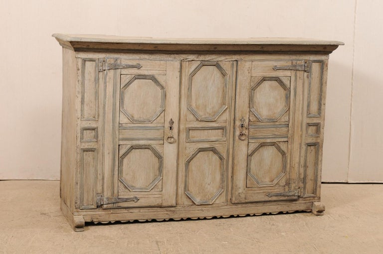 18th Century German Carved and Painted Wood Sideboard Cabinet In Good Condition For Sale In Atlanta, GA