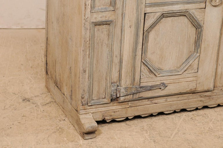 18th Century German Carved and Painted Wood Sideboard Cabinet For Sale 2