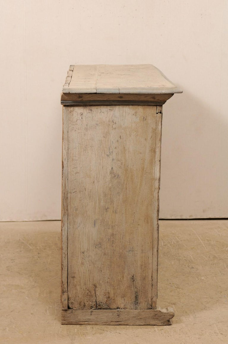 18th Century German Carved and Painted Wood Sideboard Cabinet For Sale 3