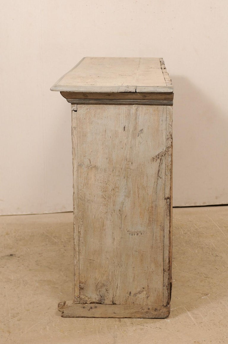 18th Century German Carved and Painted Wood Sideboard Cabinet For Sale 4