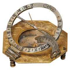 18th Century German Equinoctial Pocket Sundial and Compass by Ludwig Theodor