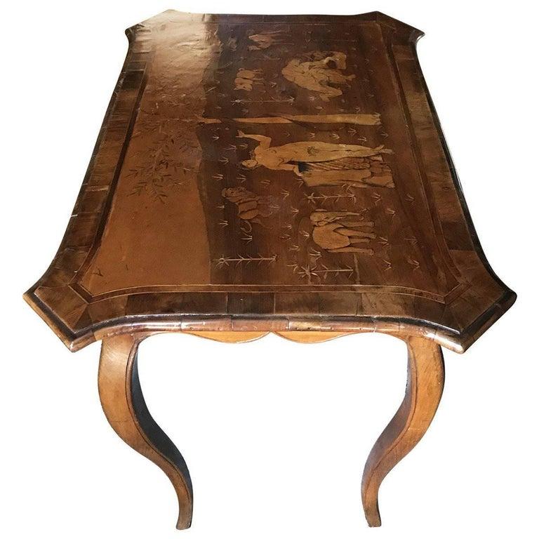 18th Century German Inlaid Walnut Table