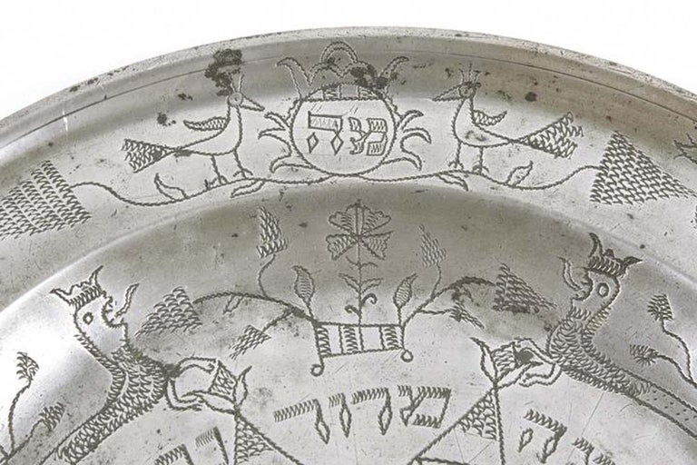18th Century German Pewter Passover Plate For Sale 2