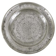 18th Century German Pewter Passover Plate