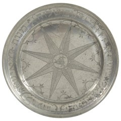 18th Century German Pewter Purim Plate