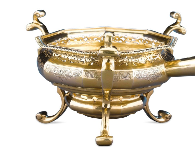 Other 18th Century German Silver Gilt Brazier For Sale