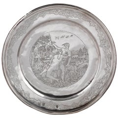 18th Century German Silver Plate