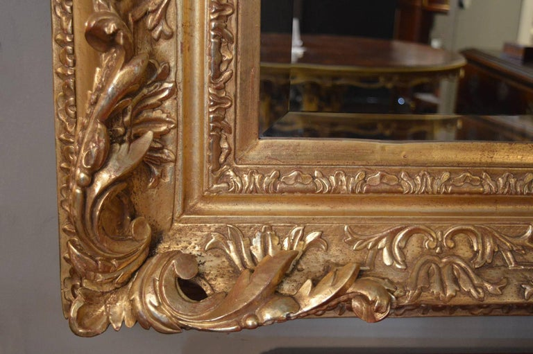 18th Century and Earlier 18th Century Gilded Mirror For Sale