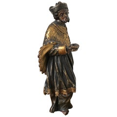 18th Century Gilded Wooden Statue
