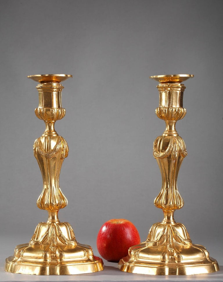 18th Century Gilt Bronze Table Candelabra Centrepieces 2
