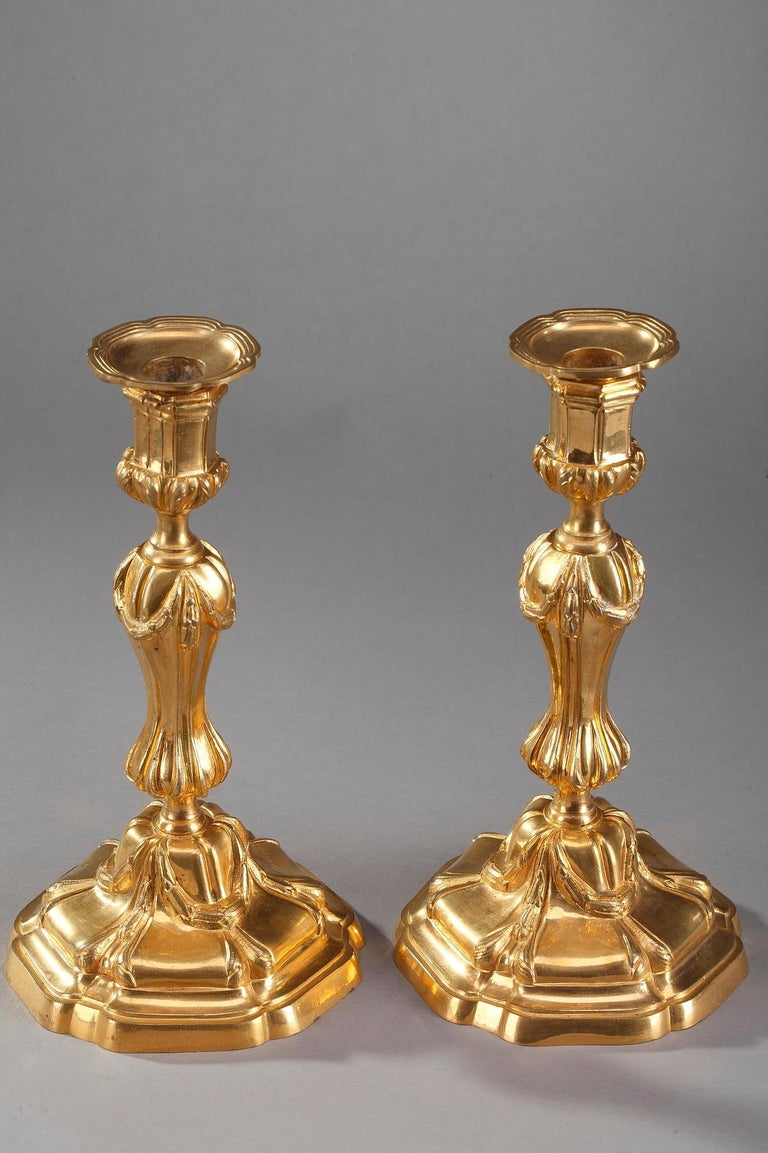 18th Century Gilt Bronze Table Candelabra Centrepieces 6