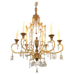"18th Century Giltwood and Crystal ""Lucca"" Pagoda Form Chandelier"