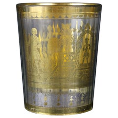 18th Century Gold Between Glass Classicism Period, Bohemia, circa 1780