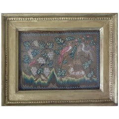 18th Century Gold-Threaded Needlework Picture