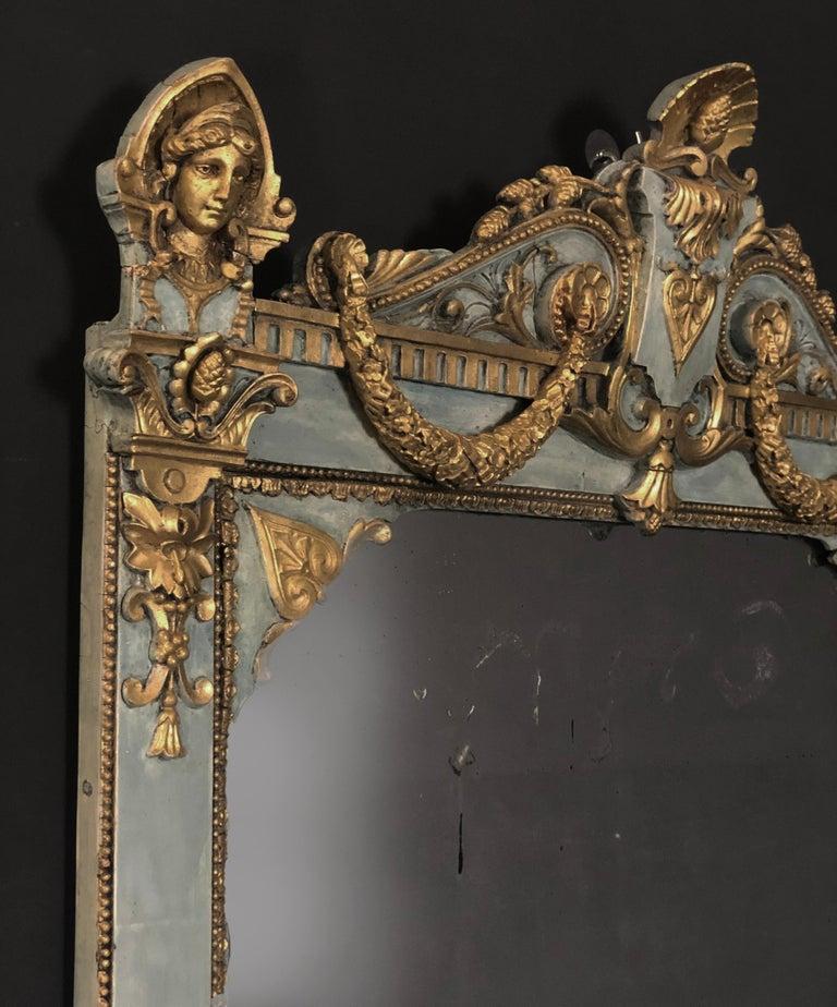 Gilt 18th Century Gustavian Baroque Mirror of Swedish origin For Sale