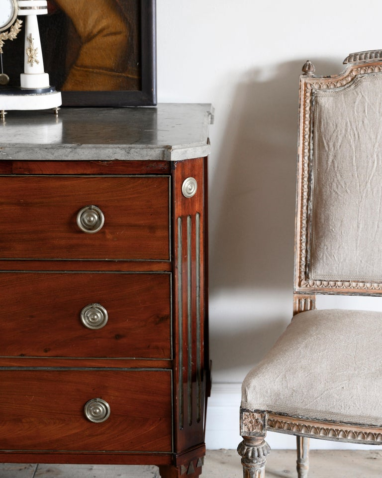 Mahogany 18th Century Gustavian Chest of Drawers For Sale