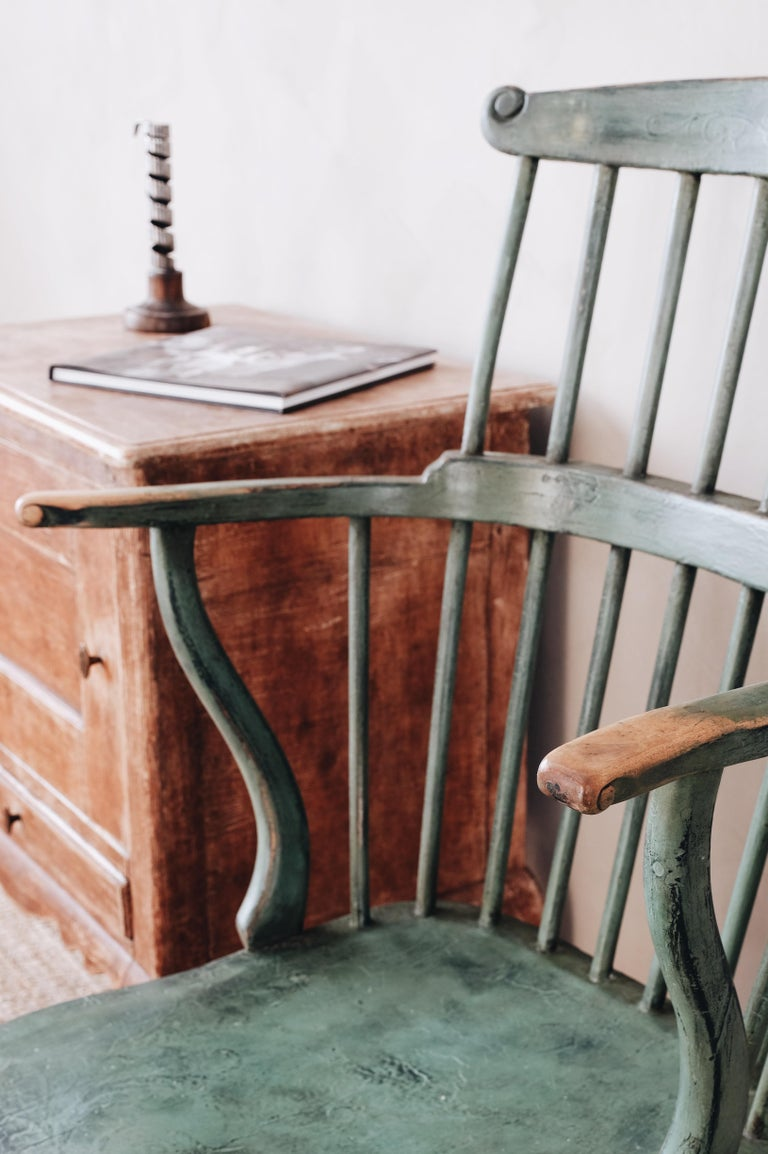 18th Century Gustavian Comb Back Chair For Sale 6