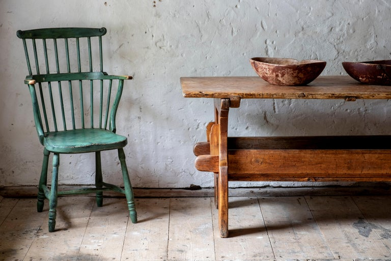 18th Century Gustavian Comb Back Chair For Sale 7