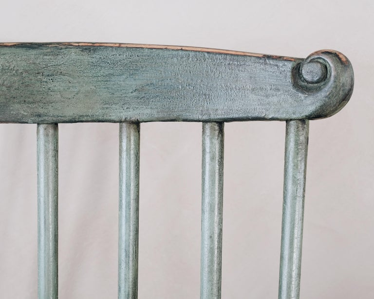 18th Century Gustavian Comb Back Chair For Sale 1